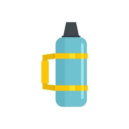 Thermos bottle icon, flat style