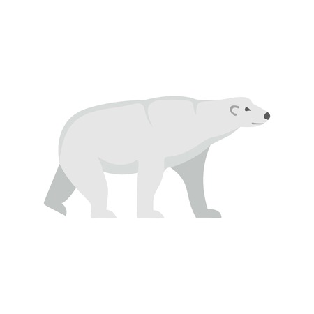 Arctic bear icon. Flat illustration of arctic bear vector icon for web isolated on white Çizim