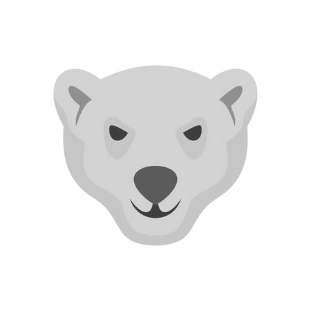 Hungry head of polar bear icon. Flat illustration of hungry head of polar bear vector icon for web isolated on white Illustration