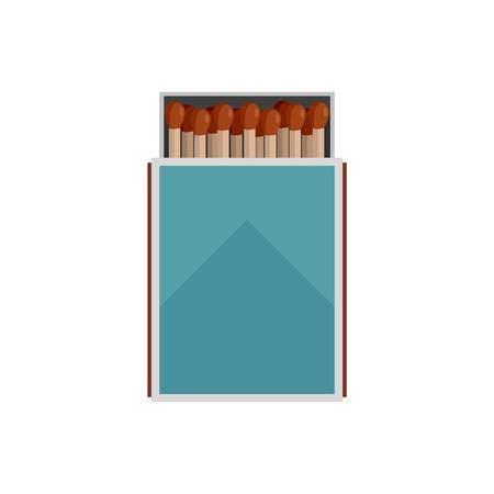 Open matches box icon. Flat illustration of open matches box vector icon for web isolated on white