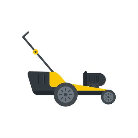 Motor grass cutter icon. Flat illustration of motor grass cutter vector icon for web isolated on white
