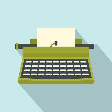 Retro typewriter icon. Flat illustration of retro typewriter vector icon for web isolated on white