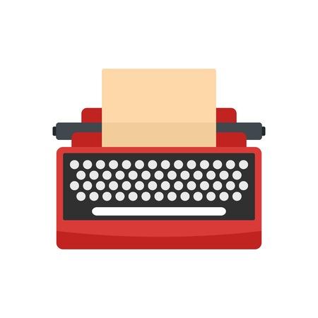Mid century typewriter icon. Flat illustration of mid century typewriter vector icon for web isolated on white