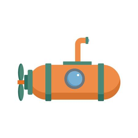 One person submarine icon, flat style