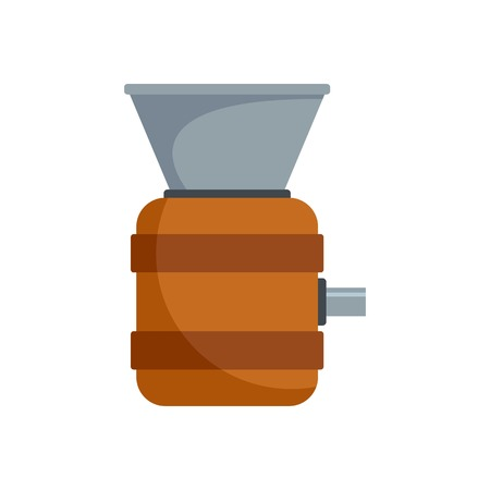 Cognac tool production icon, flat style
