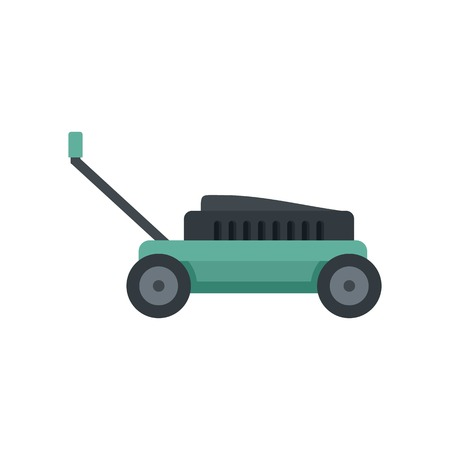 Small lawn mower icon. Flat illustration of small lawn mower vector icon for web isolated on white 일러스트