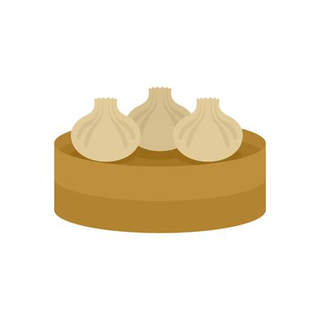 Traditional taiwan cake icon. Flat illustration of traditional taiwan cake vector icon for web isolated on white