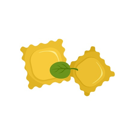 Spinach biscuits icon. Flat illustration of spinach biscuits vector icon for web isolated on white