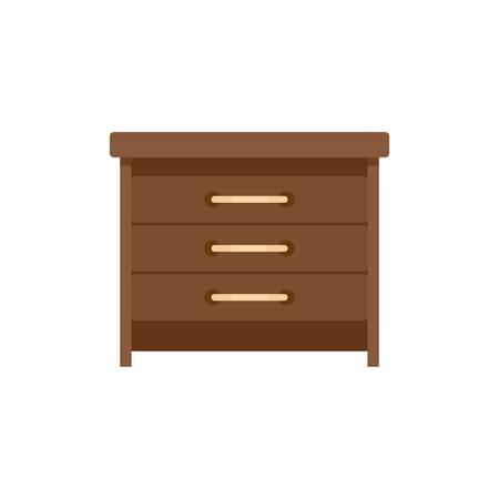 Drawers icon. Flat illustration of drawers vector icon for web isolated on white Ilustração