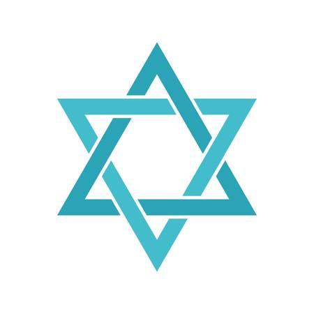 Star of David icon, flat style Reklamní fotografie - 105216773