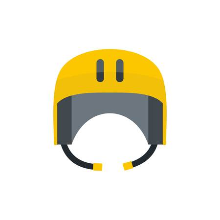 Kayak helmet icon. Flat illustration of kayak helmet vector icon for web isolated on white Illustration