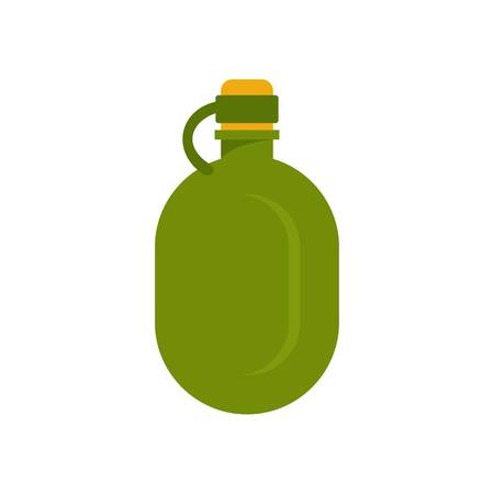 Metal water flask icon, flat style Vectores