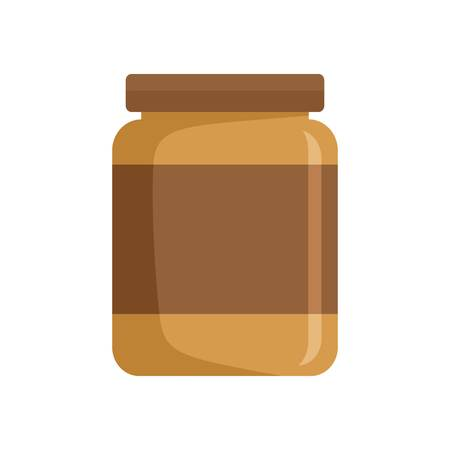 Butter jar icon. Flat illustration of butter jar vector icon for web isolated on white