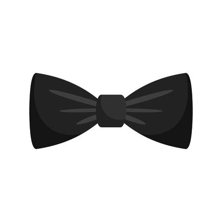 Black bow tie icon. Flat illustration of black bow tie vector icon for web isolated on white Zdjęcie Seryjne - 114782129