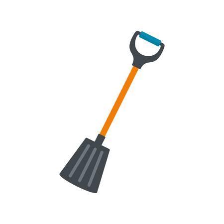 Winter spade icon, flat style