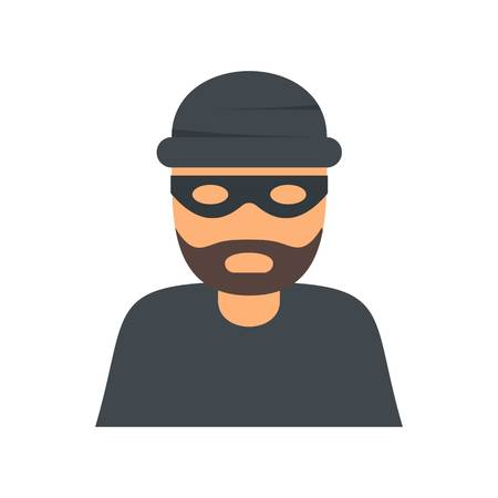 Thief icon. Flat illustration of thief vector icon for web isolated on white Illustration