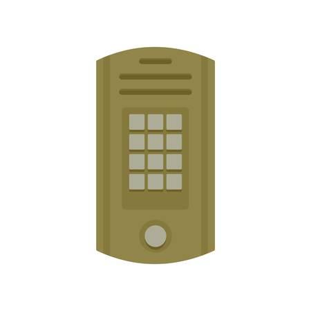 Intercom icon, flat style