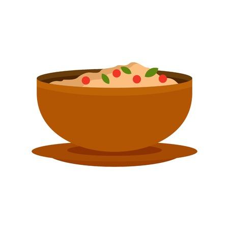Vietnam food icon, flat style Illustration