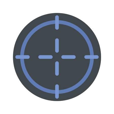 Scharfschützenzielsymbol. Flache Illustration der Scharfschützenzielvektorikone für das Netz lokalisiert auf Weiß Vektorgrafik
