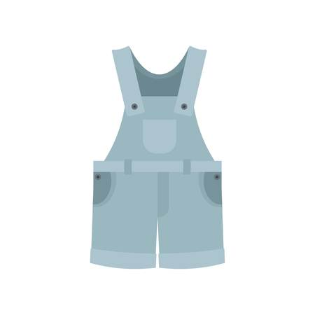 Worker clothes icon. Flat illustration of worker clothes vector icon for web isolated on white Иллюстрация