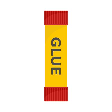 Glue stick icon. Flat illustration of glue stick vector icon for web isolated on white
