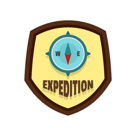 Expedition logo, flat style