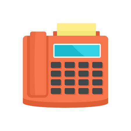 Fax telephone icon. Flat illustration of fax telephone vector icon for web isolated on white