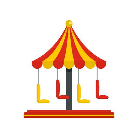 Circus carousel icon. Flat illustration of circus carousel vector icon for web isolated on white