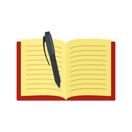 Icône de bloc-notes ouvert. Télévision illustration de l'icône de vecteur de cahier ouvert pour le web isolé sur blanc