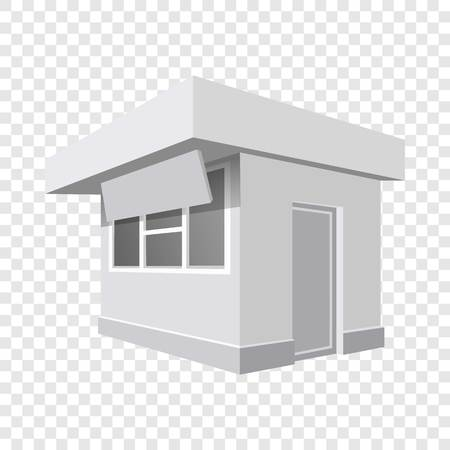 Small shop mockup. Realistic illustration of small shop vector mockup for on transparent background Banque d'images - 114753038