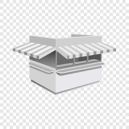 Kiosk mockup. Realistic illustration of kiosk vector mockup for on transparent background Banque d'images - 114753039