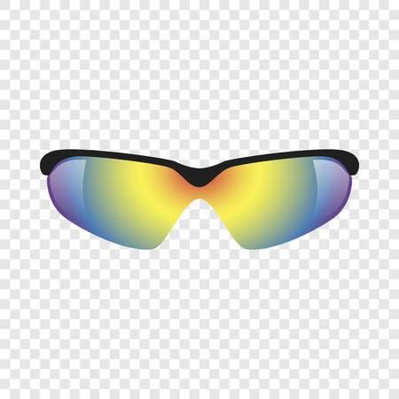 Sport glasses mockup. Realistic illustration of sport glasses vector mockup for on transparent background  イラスト・ベクター素材