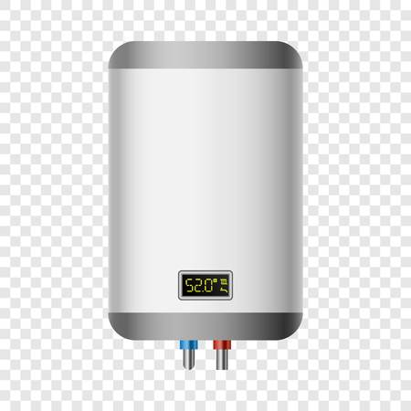House boiler mockup. Realistic illustration of house boiler vector mockup for on transparent background