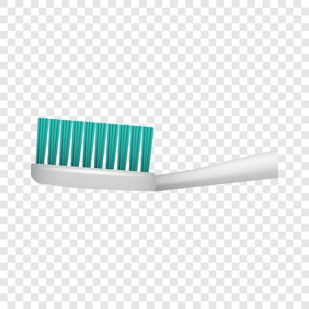 Toothbrush icon. Realistic illustration of toothbrush vector icon for on transparent background Illusztráció