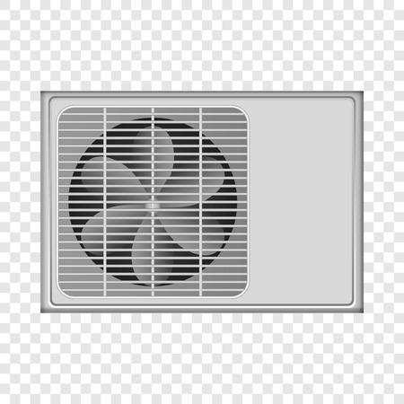 Outdoor conditioner fan mockup. Realistic illustration of outdoor conditioner fan vector mockup for on transparent background Vektoros illusztráció