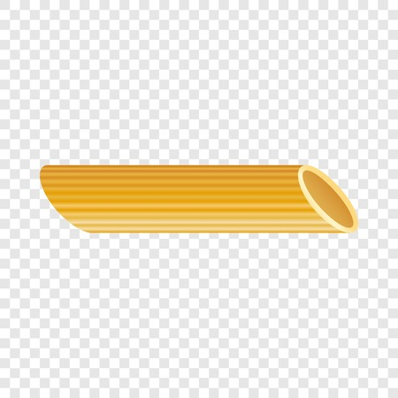 Penne pasta icon. Realistic illustration of penne pasta vector icon for on transparent background