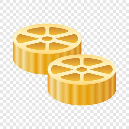 Route pasta icon. Realistic illustration of route pasta vector icon for on transparent background
