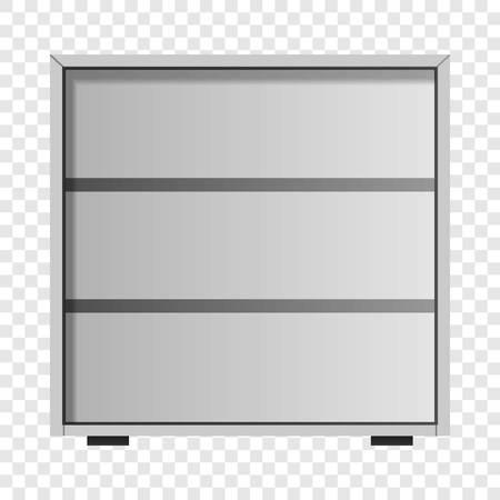Maquette de tiroir blanc. Illustration réaliste de la maquette de vecteur de tiroir blanc pour sur fond transparent