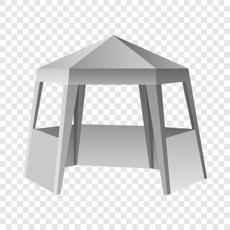 Presentation tent mockup. Realistic illustration of presentation tent vector mockup for on transparent background