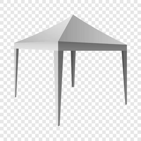 Maqueta de dosel blanco. Ilustración realista de maqueta de vector de dosel blanco sobre fondo transparente