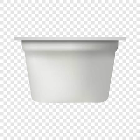 Yogurt packing mockup. Realistic illustration of yogurt packing vector mockup for on transparent background Vector Illustratie