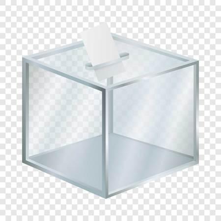 Empty election box mockup. Realistic illustration of empty election box vector mockup for on transparent background Векторная Иллюстрация