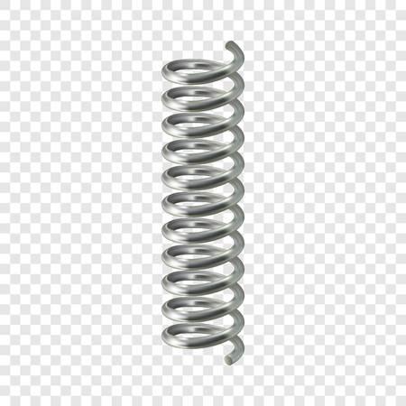 Maqueta de cable de resorte. Ilustración realista de maqueta de vector de cable de resorte para fondo transparente