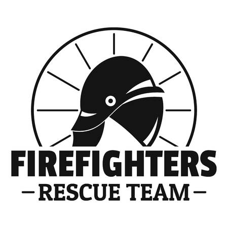 Firefighters rescue team logo, simple style