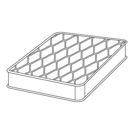 Sleep mattress icon. Outline sleep mattress vector icon for web design isolated on white background