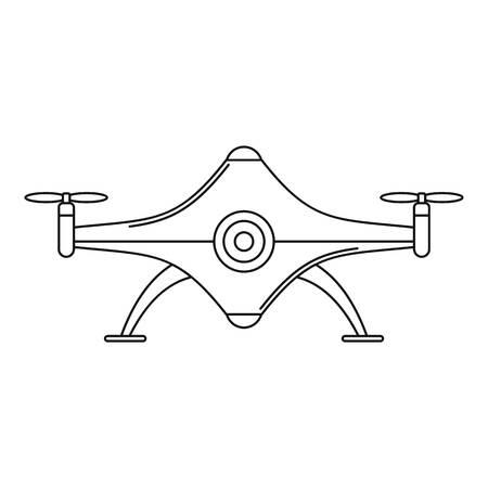 Futuristic drone icon. Outline futuristic drone vector icon for web design isolated on white background Illustration