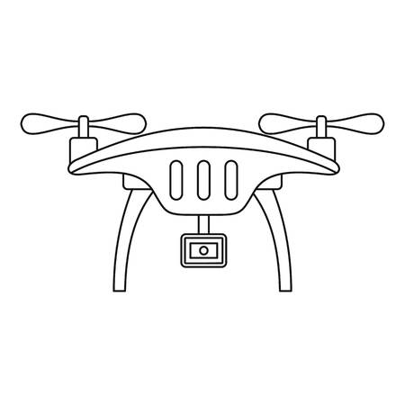 Action camera drone icon. Outline action camera drone vector icon for web design isolated on white background