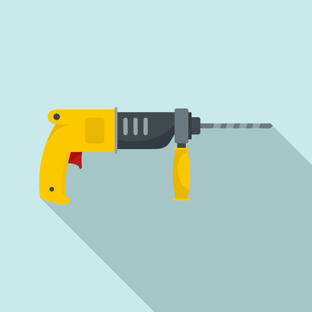 Hammer drill icon. Flat illustration of hammer drill vector icon for web design