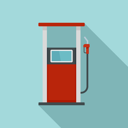 Fuel refill stand icon. Flat illustration of fuel refill stand vector icon for web design
