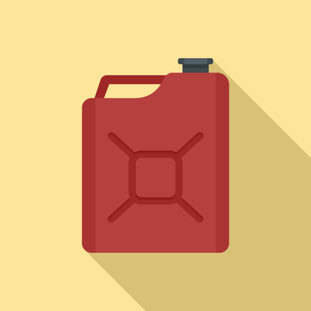 Gas canister icon. Flat illustration of gas canister vector icon for web design